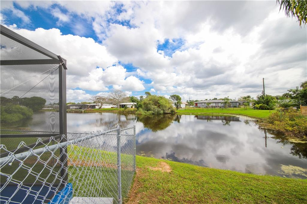 Lakeview from Patio - Single Family Home for sale at 41 Caroll Cir, Englewood, FL 34223 - MLS Number is N6104860