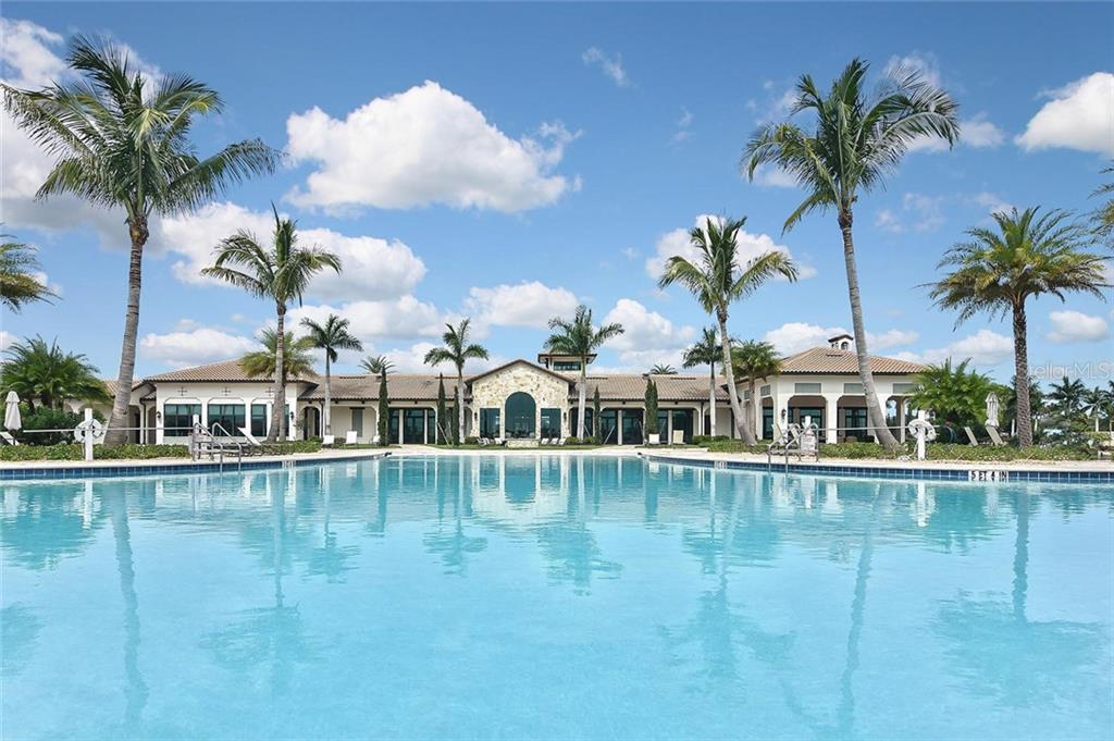 Community pool, clubhouse - Single Family Home for sale at 166 Toscavilla Blvd, Nokomis, FL 34275 - MLS Number is N6105654