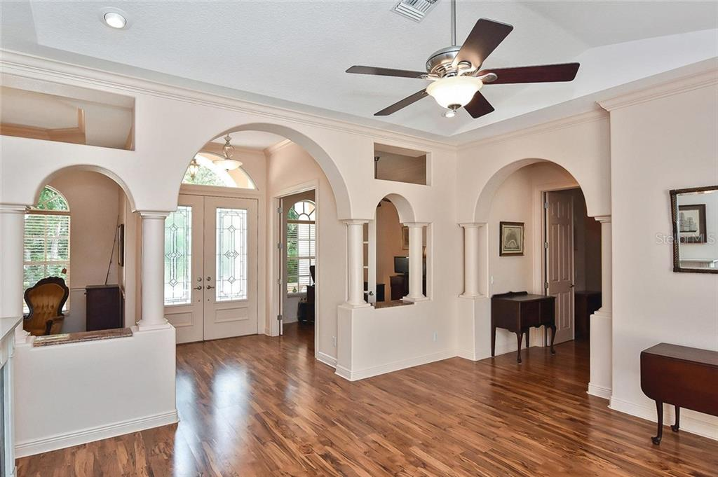 Entry/Living Room/Office - Single Family Home for sale at 1709 Hudson St, Englewood, FL 34223 - MLS Number is N6106345
