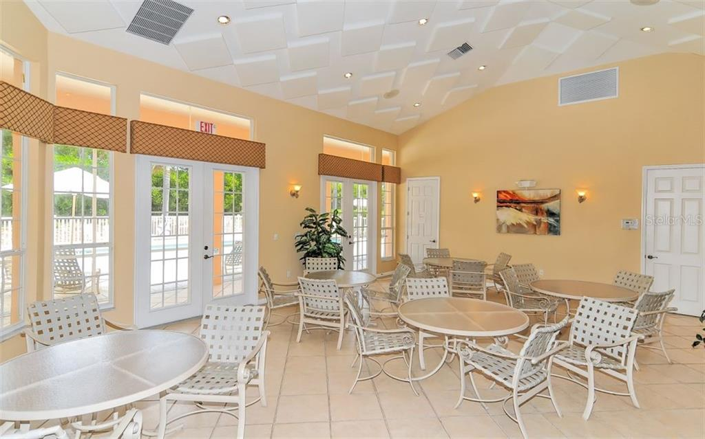 Clubhouse gathering room - Single Family Home for sale at 226 Rio Terra, Venice, FL 34285 - MLS Number is N6107320