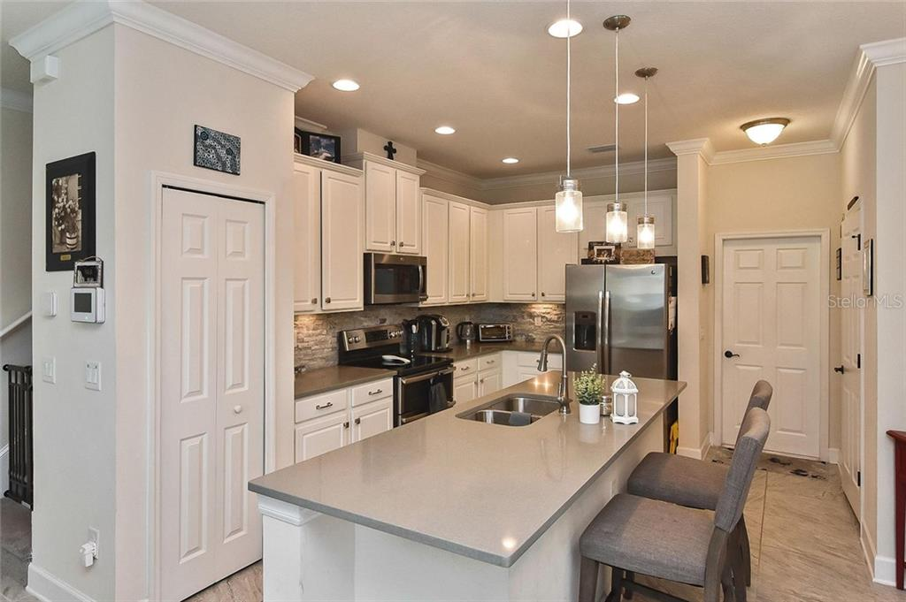 Breakfast bar, kitchen - Townhouse for sale at 10713 Avery Park Dr, Riverview, FL 33578 - MLS Number is N6107928