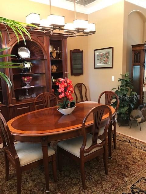 Dining room - Single Family Home for sale at 19694 Cobblestone Cir, Venice, FL 34292 - MLS Number is N6109367