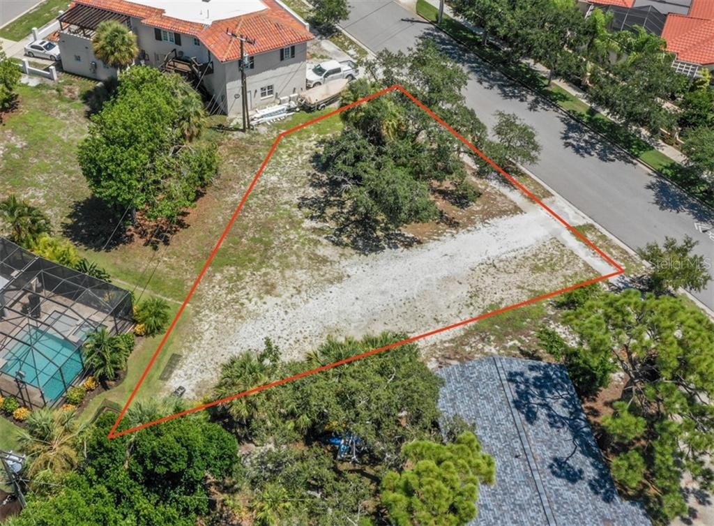 Aerial - Vacant Land for sale at 230 Nassau St S, Venice, FL 34285 - MLS Number is N6111555