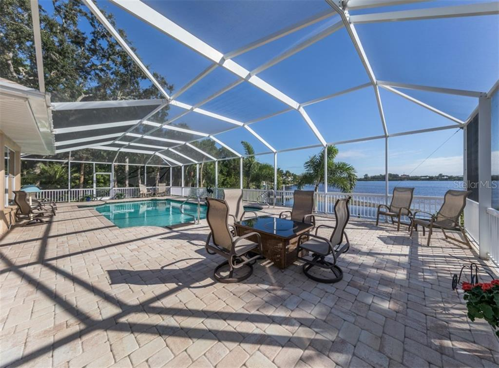 Pool with water view - Single Family Home for sale at 453 Anchorage Dr, Nokomis, FL 34275 - MLS Number is N6112707