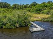 Aerial of dock and property - Vacant Land for sale at 9500 Myakka Dr, Venice, FL 34293 - MLS Number is N6111090