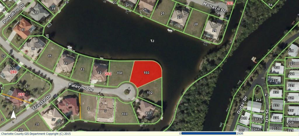 GIS Aerial - Vacant Land for sale at 5006 Palermo Dr, Punta Gorda, FL 33950 - MLS Number is C7210721