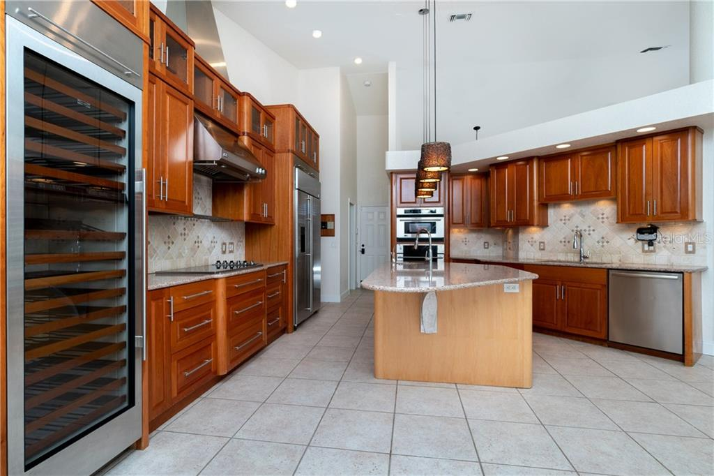 Wow! Gourmet Chef's delight. Check out the full size Sub Zero Wine Refrigerator! - Single Family Home for sale at 1309 Casey Key Dr, Punta Gorda, FL 33950 - MLS Number is C7413790