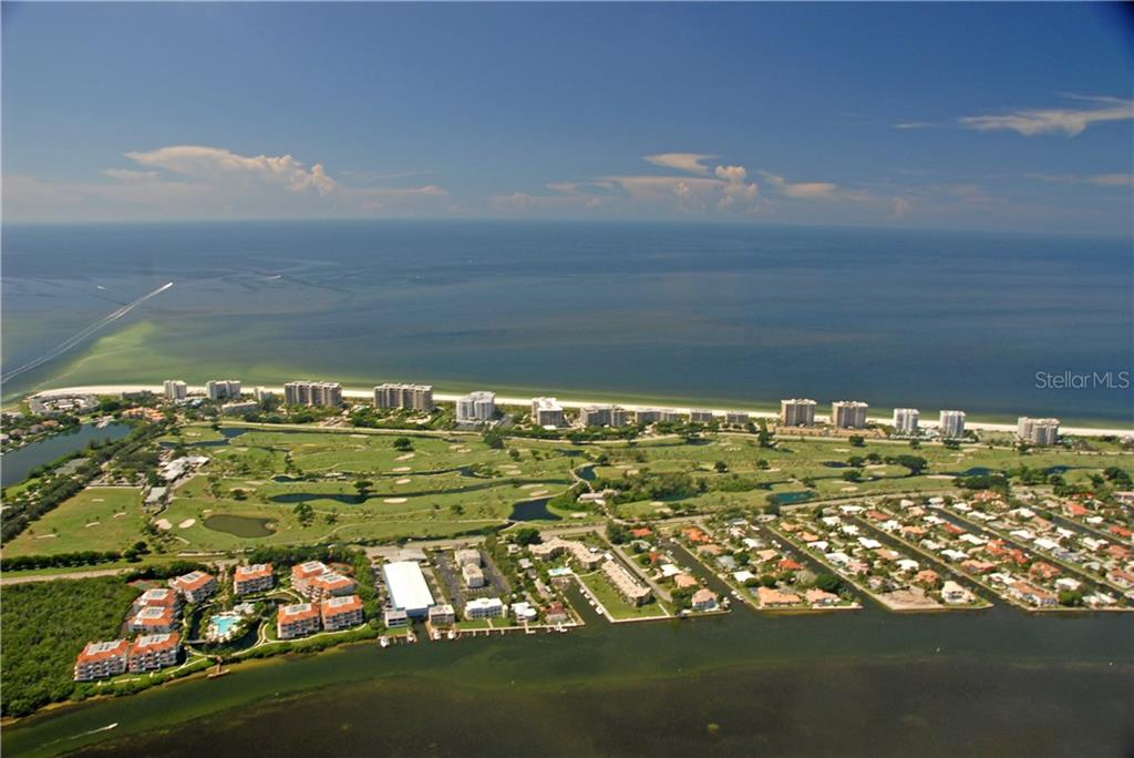Aerial view of the golf course at Longboat Key Club - Vacant Land for sale at 4153 Higel Ave, Sarasota, FL 34242 - MLS Number is A4189816