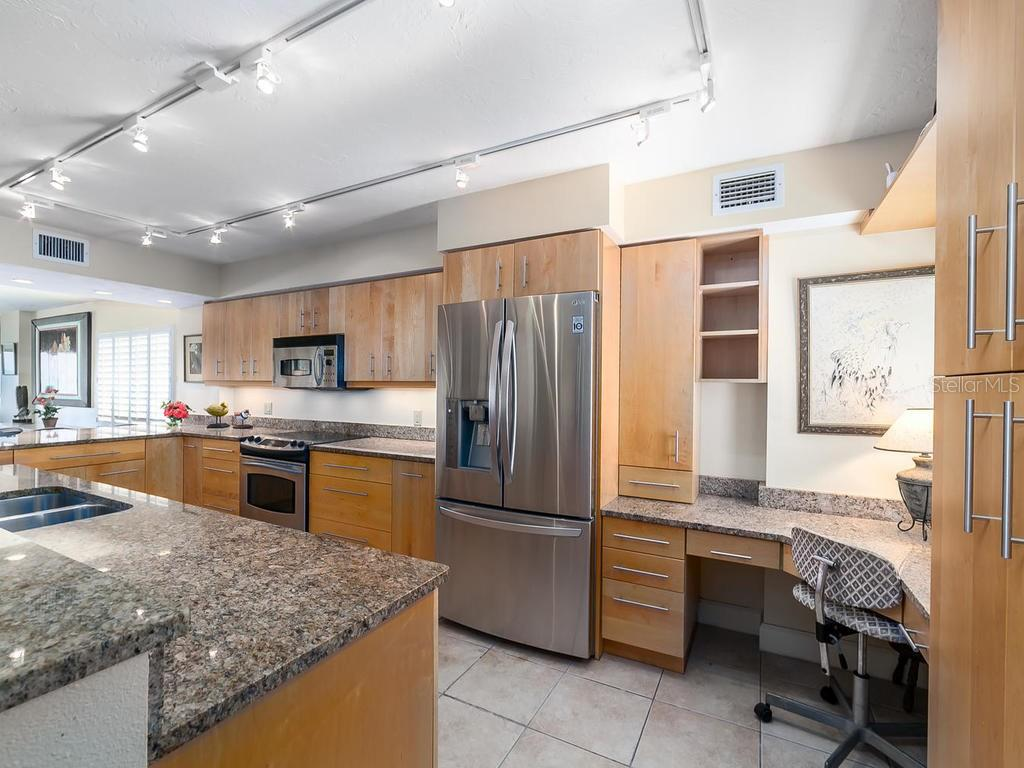 Tastefully updated granite counters - Condo for sale at 20 Whispering Sands Dr #301, Sarasota, FL 34242 - MLS Number is A4190302