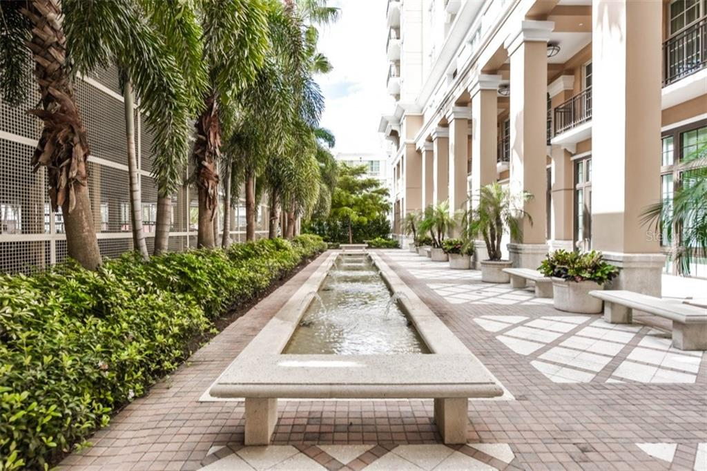 Meditation Garden and Fountain - Condo for sale at 750 N Tamiami Trl #1108, Sarasota, FL 34236 - MLS Number is A4190640