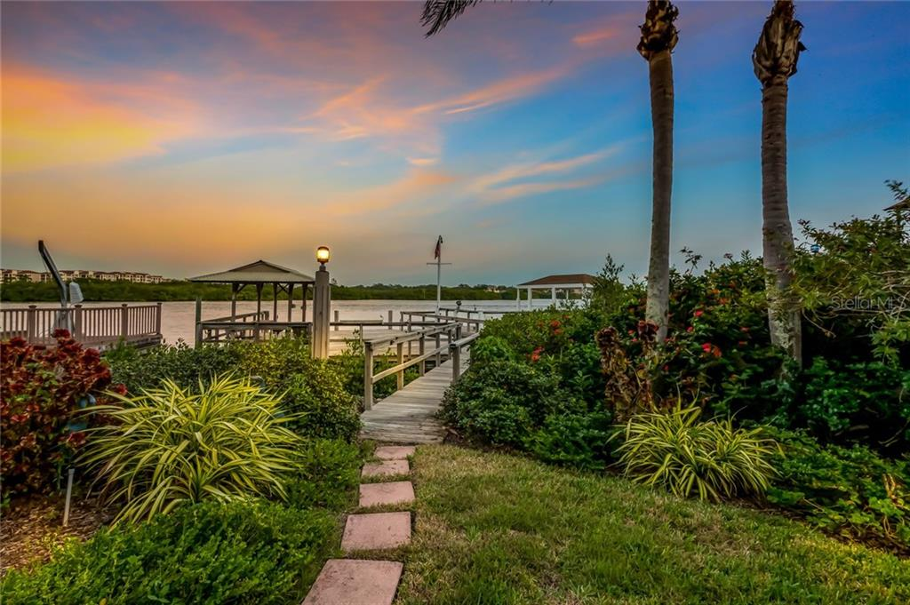 Walkway to Party dock and ICW - Single Family Home for sale at 1253 Riegels Landing Dr, Sarasota, FL 34242 - MLS Number is A4203768