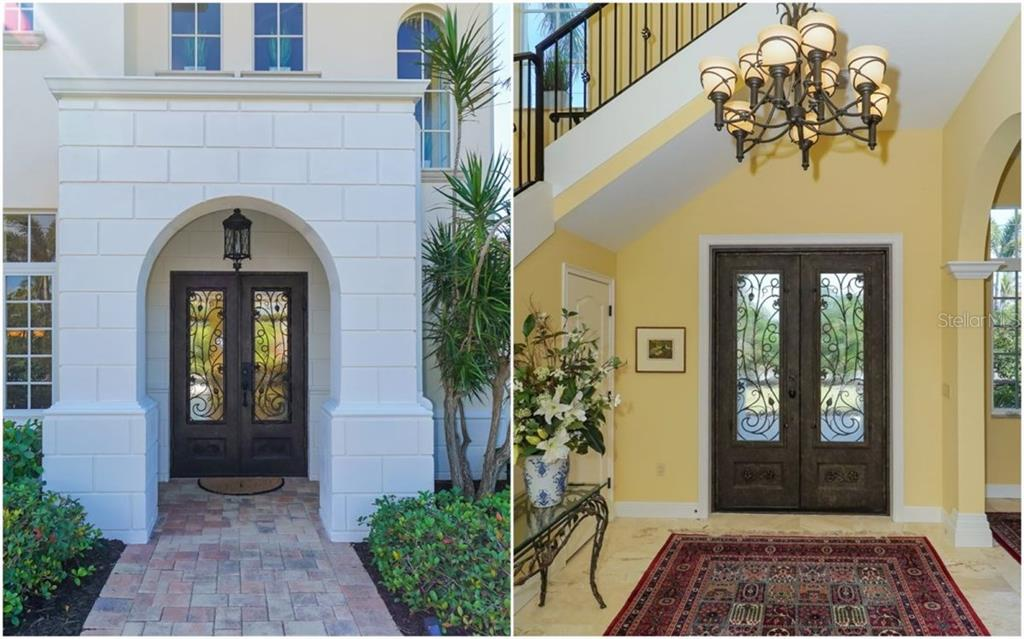 Front entry/Foyer split view - Single Family Home for sale at 1179 Morningside Pl, Sarasota, FL 34236 - MLS Number is A4209174