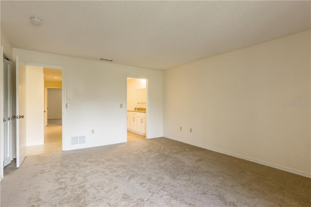 Master has a walk in closet  & two wall closets - Villa for sale at 3606 Gleneagle Dr #9a, Sarasota, FL 34238 - MLS Number is A4403597