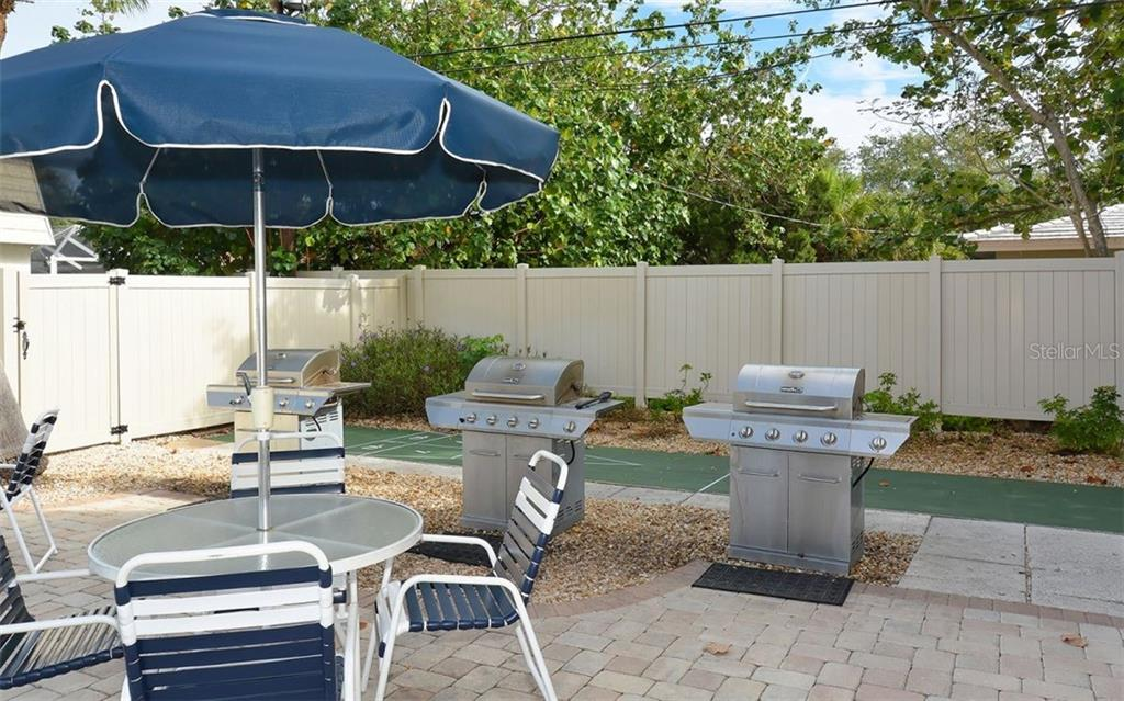 Grilling Patio. - Condo for sale at 797 Beach Rd #215, Sarasota, FL 34242 - MLS Number is A4430524