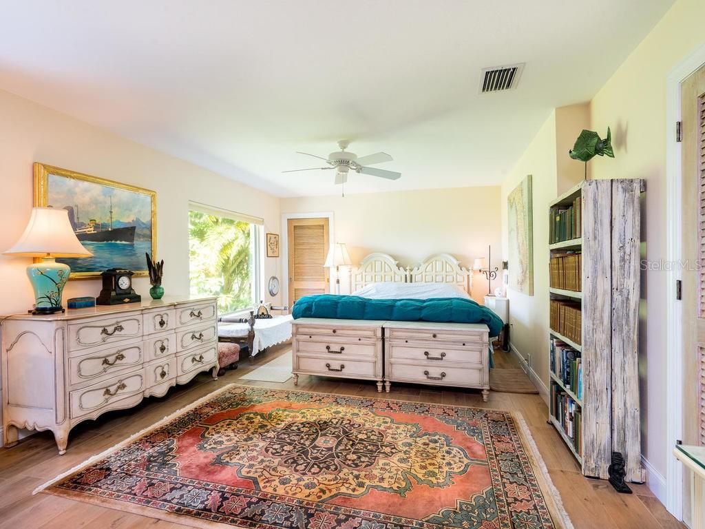 View of Eagles' Nest from bed - Single Family Home for sale at 1716 Bayshore Dr, Englewood, FL 34223 - MLS Number is A4445961