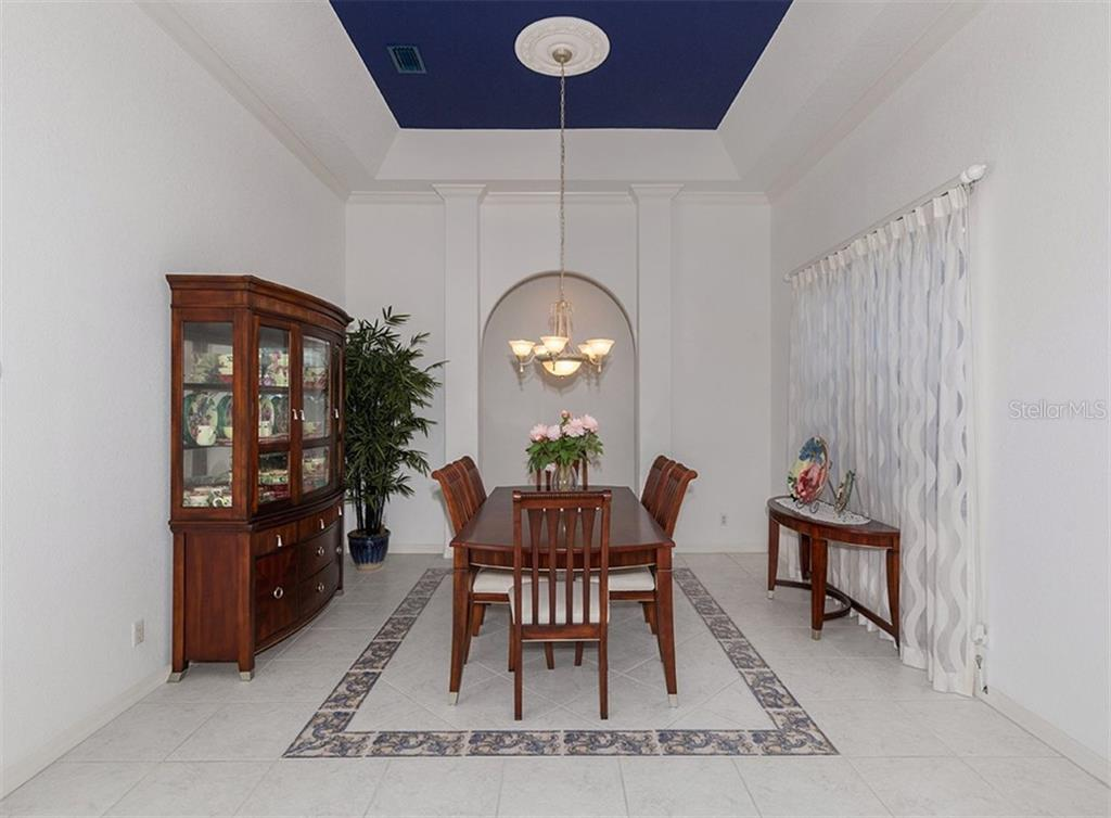 Dining room - Single Family Home for sale at 2201 Sonoma Dr E, Nokomis, FL 34275 - MLS Number is N6103410